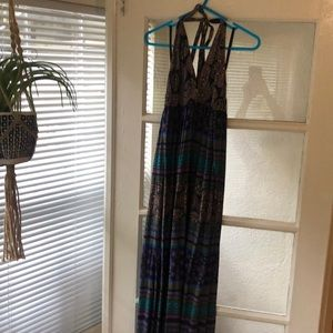 Gap size small boho maxi dress, beachy